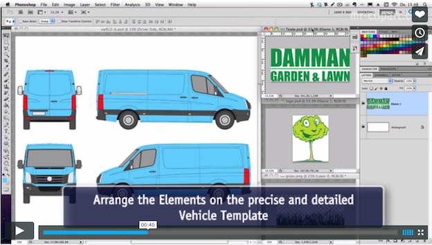 5 tips to get you started in vehicle wrap design – Van Wrap Template