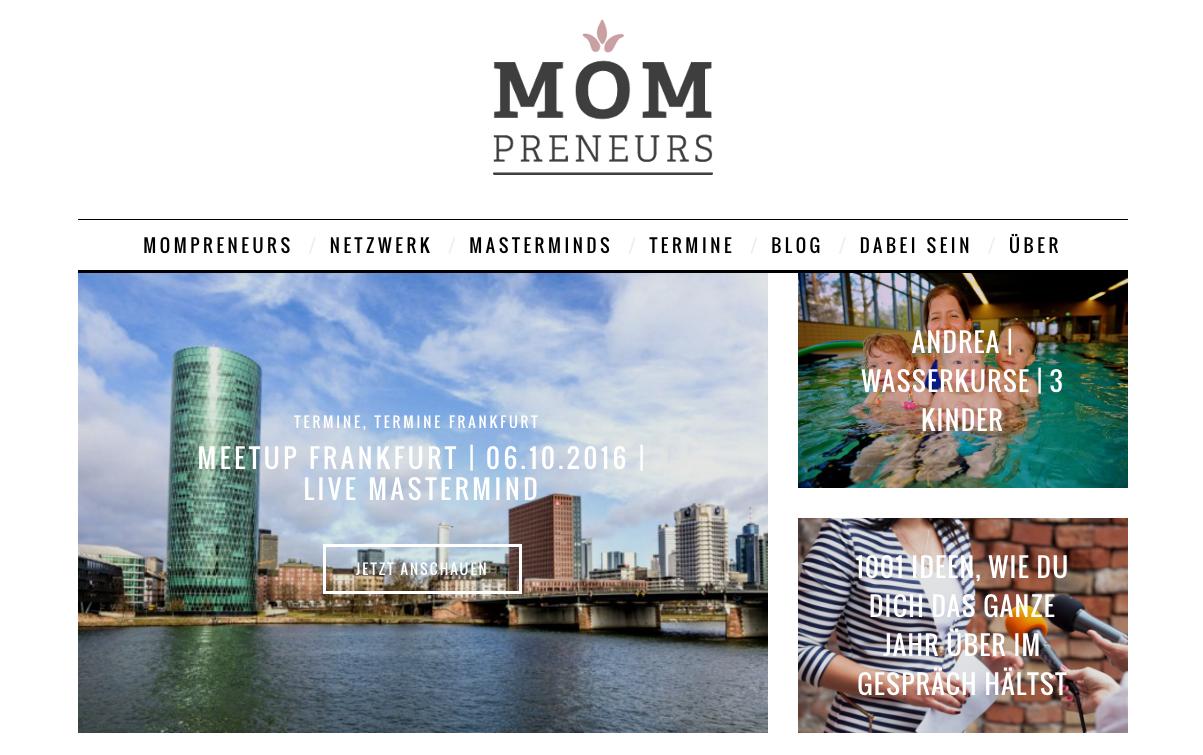 mompreneur website