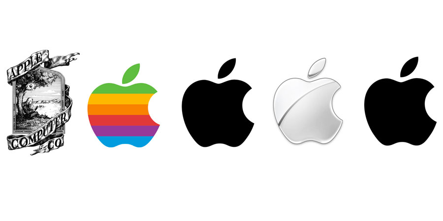 tech branding: apple logo evolution