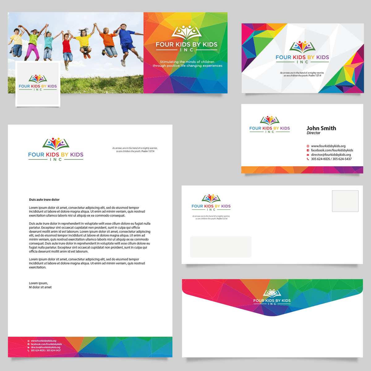 brand identity pack for Four Kids by Kids
